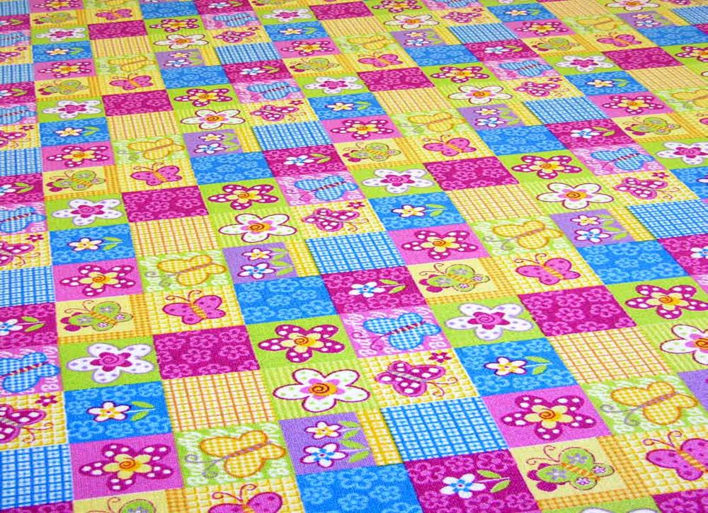 Teppichboden Online Shop Butterfly Spielteppich Kinderteppich